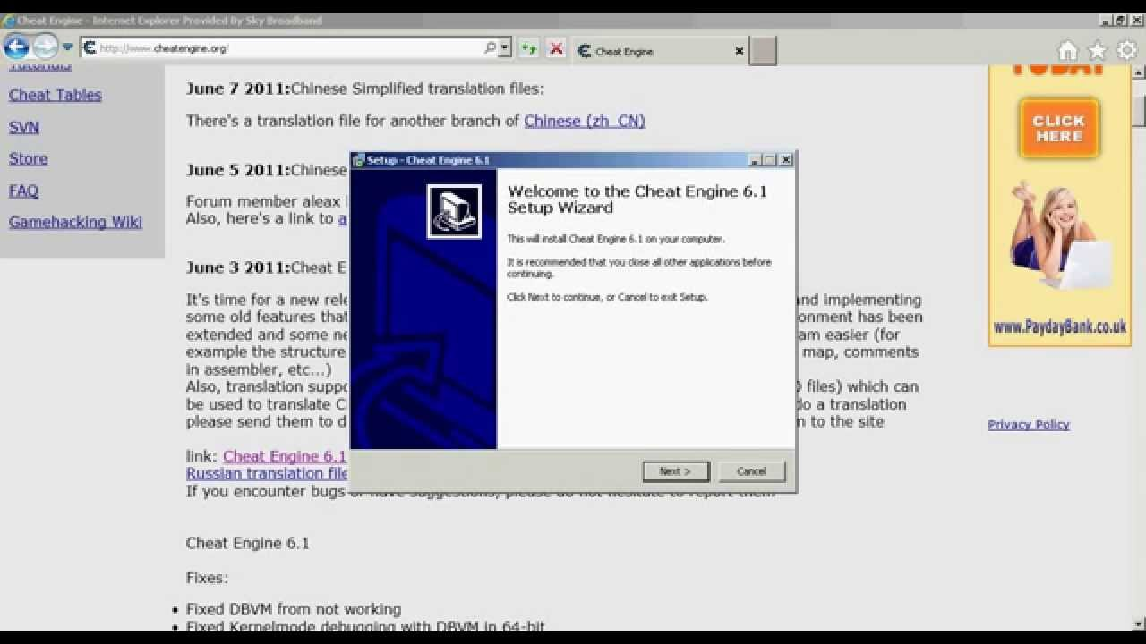 Download cheat engine 6. 8. 2 for free (english version).