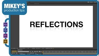After Effects Quick Tip: text reflection.