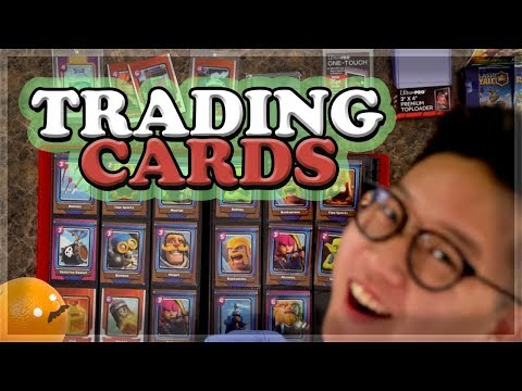 NEW Collectible Trading Cards for Clash Royale!!! 🍊 MASS Box Opening + GIVEAWAY!