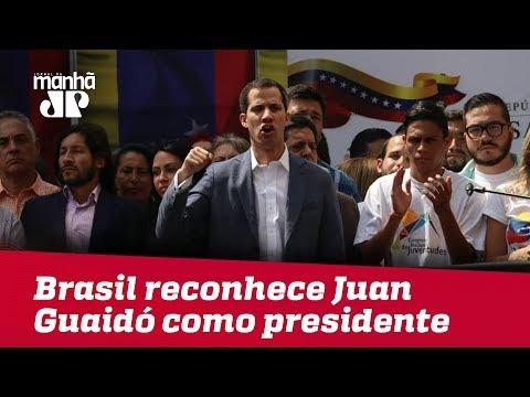 Brasil reconhece Juan Guaidó como presidente interino da Venezuela