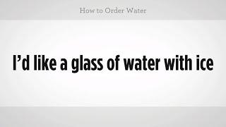 How to Order Water | Mandarin Chinese