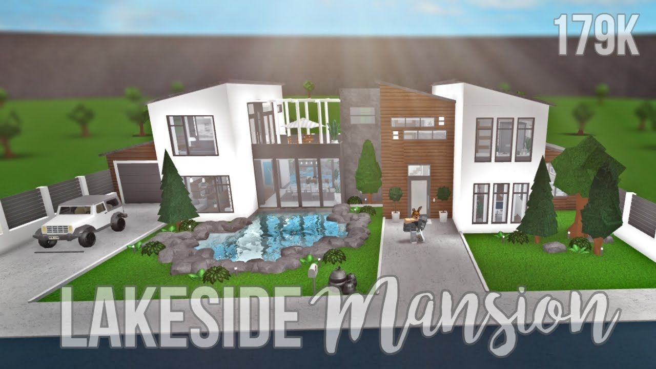 Bloxburg Lakeside Mansion 179k Youtube
