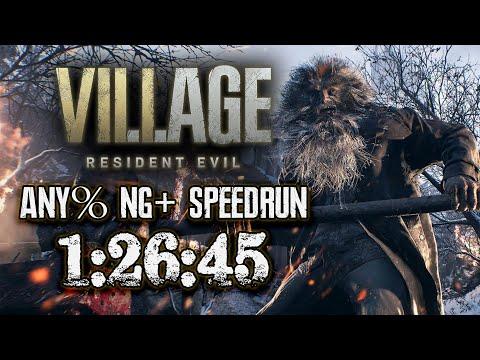Resident Evil Village Any% NG+ Speedrun - 1:26:45