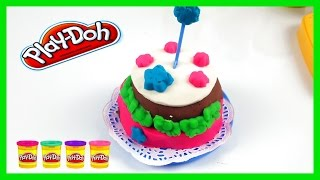Play Doh video cake kids activity modeling clay Play dough Kids channel