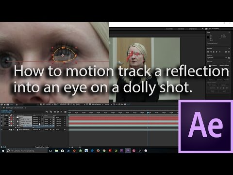 Answer to Question for  After Effects: How to motion track a reflection into an eye on a dolly shot.
