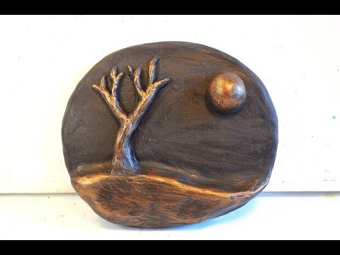 DIY Wall Art Sculpture In Polymer Clay Tutorial