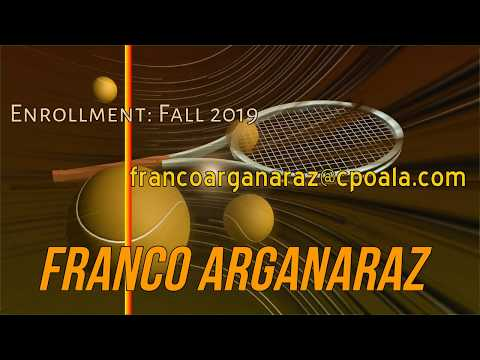 Franco Arganaraz  Fall 2019 Tennis   Argentina