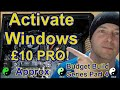 Windows 10 Pro - Approx £10 - Purchase and Activation