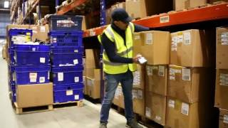 Radio frequency (rf) picking in a warehouse