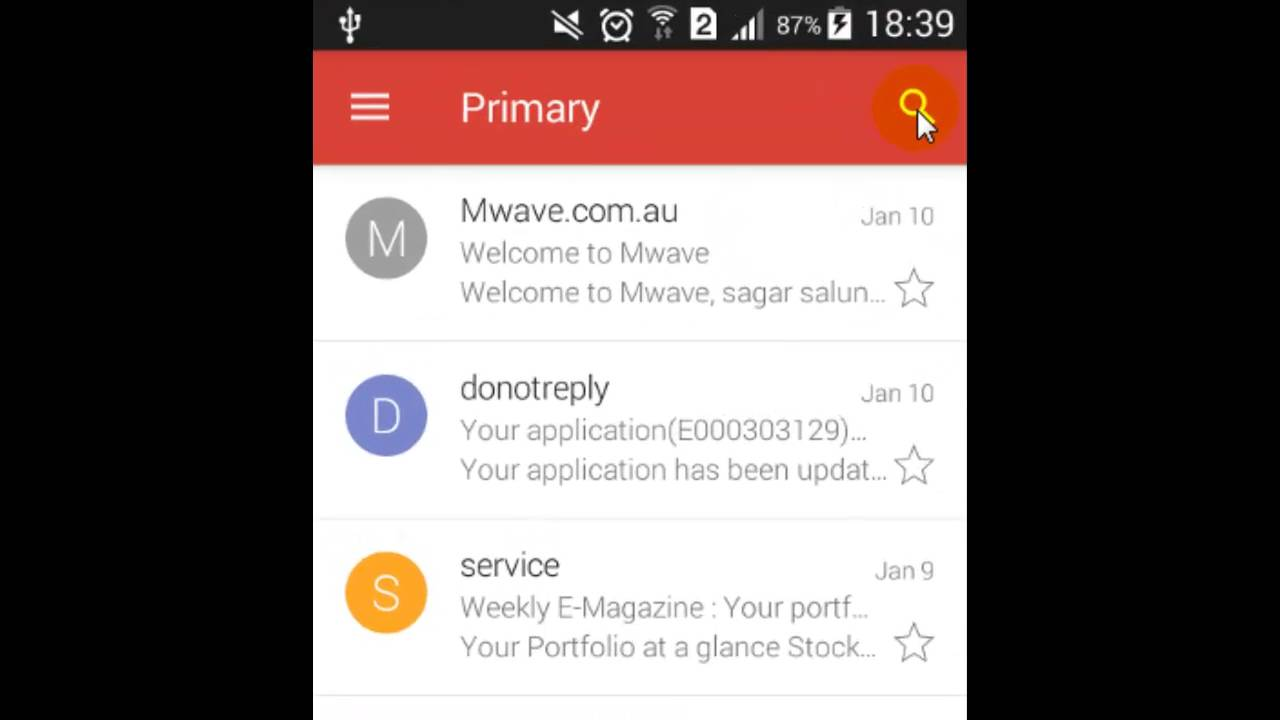 How To Search Mails In Gmail Android App