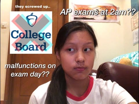 Dear College Board, You Screwed Up   2020 AP Exams