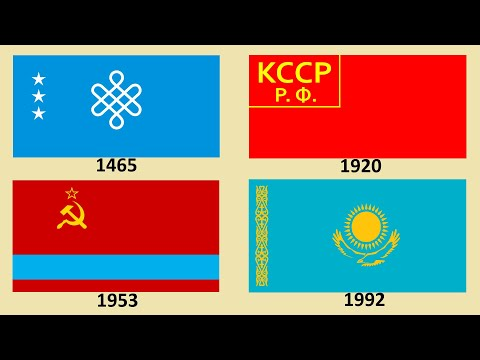Flag of Kazakhstan : Historical Evolution (with the national
