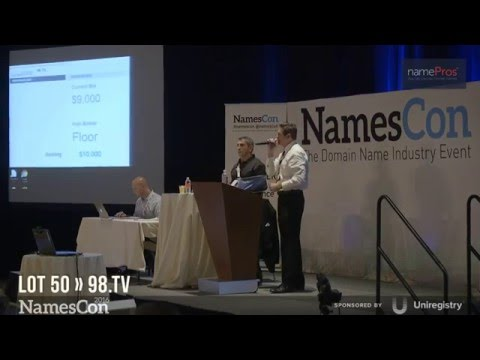 Live Domain Auction by RightOfTheDot (NamesCon 2016 HD)