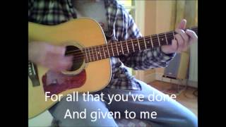 Alter Bridge Wonderful Life Acoustic Guitar