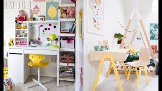 Kids Room Designs ➤ A writing desk in the children's room forms, ideas ➤ Interior design trends 2019
