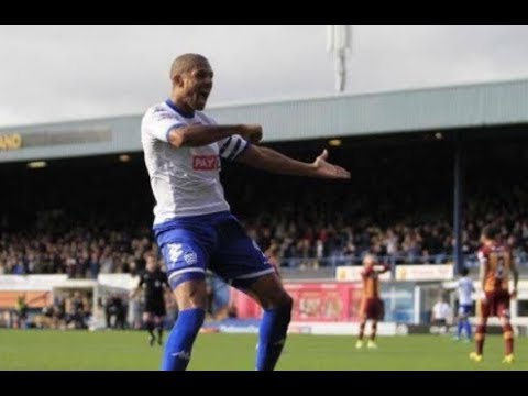Jermaine Beckford Doing The Leeds Salute In Front Of The Bradford Fans After Scoring For Bury