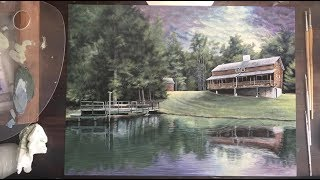 Painting a Cabin on the Lake