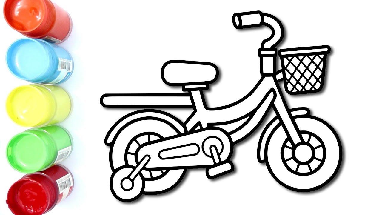 Mewarnai Sepeda Anak Sangat Rapih Coloring Pages For Kids
