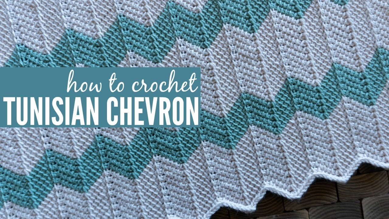Tunisian Chevron Crochet Tutorial