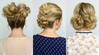 5 Summer Mini Bun Hairstyles | Missy Sue