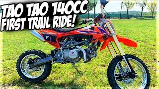 TAO TAO 140cc First Trail Ride With Apollo 007