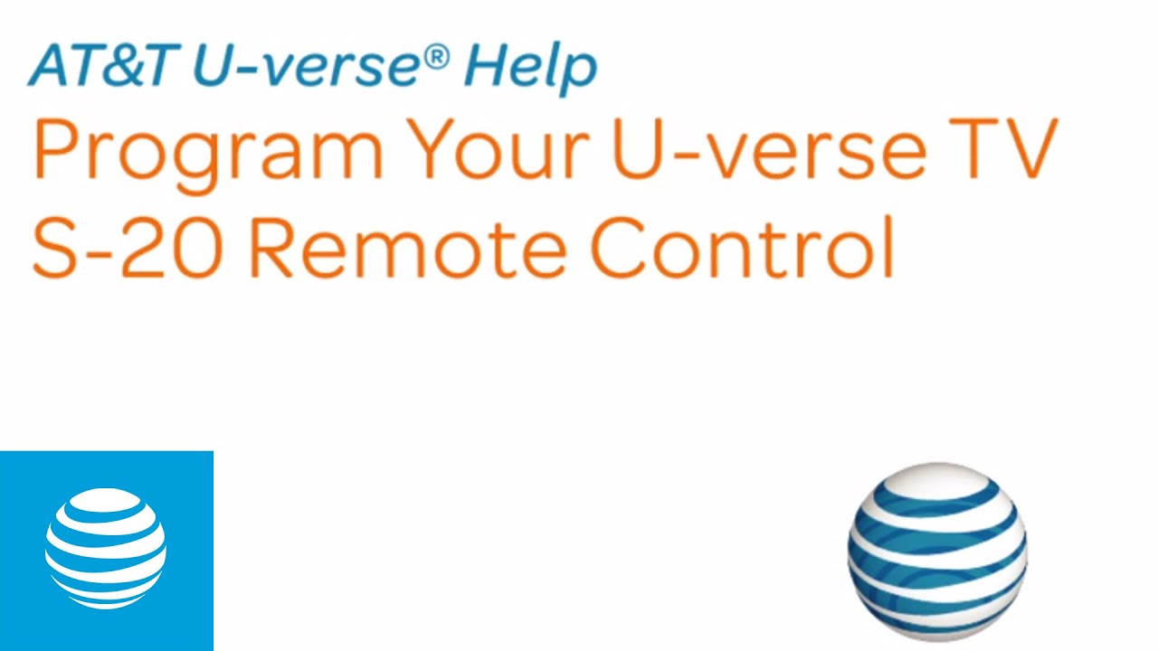 Program Your U-verse TV S-20 Remote Control | AT&T