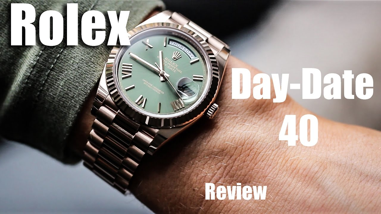 Golden 40 Rolex Day-date 40 Rose Gold Review - Youtube