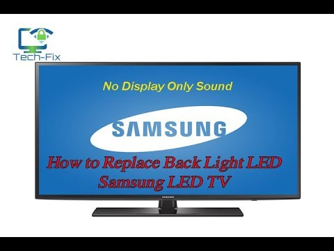 How to repair LED TV No Picture Only Sound Black Screen