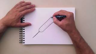 How to draw a syringe