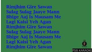 Rimjhim gire sawan-Kishore Kumar Full Karaoke with Lyrics