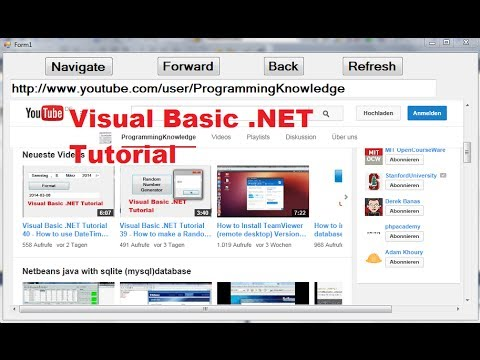Visual Basic  NET Tutorial 41 - How to use the WebBrowser control in Visual  Basic  Net