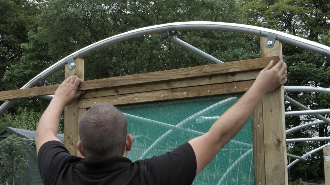Forming a Timber Rebate on a Polytunnel Door Frame when Trenching the Cover & Forming a Timber Rebate on a Polytunnel Door Frame when Trenching ...