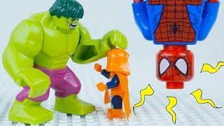 Лего Людина-Павук зупинки руху з/ Лего Людина-Павук і Халк рятує місто! | Спайдермен Лего | купити лего світи