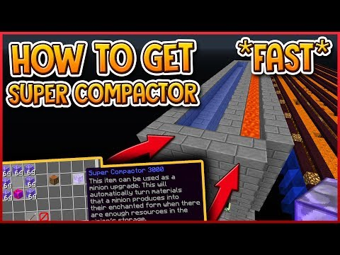 HYPIXEL SKYBLOCK | how to get SUPER COMPACTOR 3000 FAST!