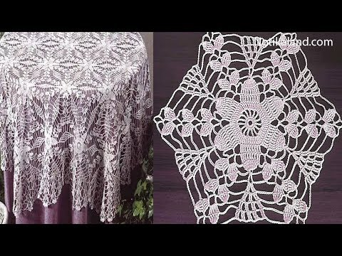 Crochet Motif Patterns For Tablecloth Part 3 How To Crochet
