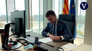 Pere Aragonès firma el decreto de convocatoria de la constitución del Parlament para el 12 de marzo