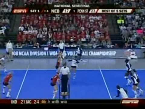 Penn State vs. Nebraska - 2008 NCAA Women's Volleyball National Semifinals