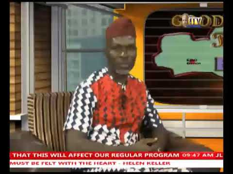 LIVE INTERVIEW BY MRS ELIZABETH PEDRO OMOKHAS ON ITV BENIN C