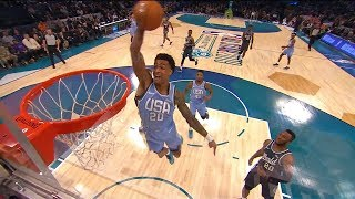 John Collins INCREDIBLE Off the Backboard Alley Oop Dunk | 2019 NBA Rising Stars Challenge