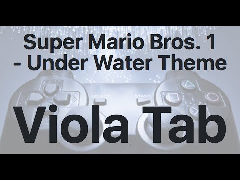 Learn Super Mario Bros. 1 - Under Water Theme on Viola - How to Play Tutorial