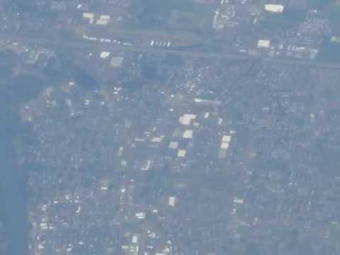 Victoria-to-San Francisco flight: Sidney Is., UVIC, Olympic Range, Eugene, Golden Gate 2012-05-11