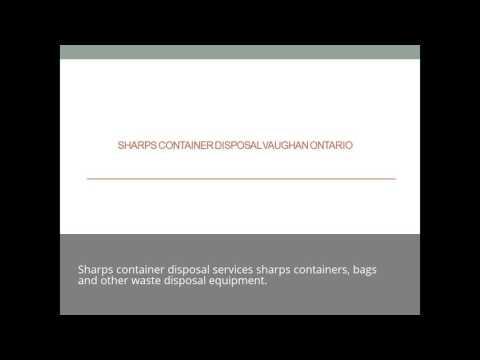 Gic Sharps Container Disposal Vaughan Ontario