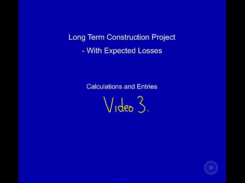 Long Term Construction Project with Expected Losses Video 3