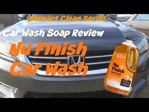 Walmart Clean Series review of Nu Finish Car Wash car soap