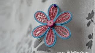 ✿ Quilling - Tutorial 14 - Floare - AidaCrafts