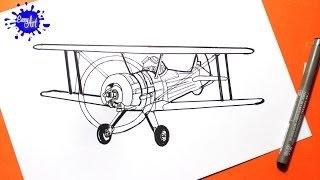 Como dibujar Aviones Disney leadbottom l How to draw disney leadbottom Flugzeuge