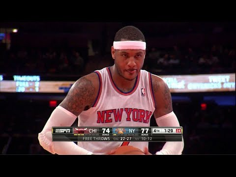Carmelo Anthony Full Highlights vs Bulls (2013.12.11) - 30 Pts, 10 Reb