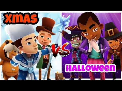 Subway Surfers Xmas VS Halloween (Gameplay By Saswata Surfers)
