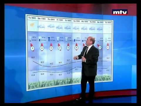 Mtv Lebanon 10 / 01 / 2012 - Weather