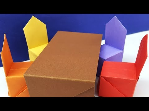 How to make a paper chair easy tutorial step by step | Origami chair ideas - Diy chair - paper craft